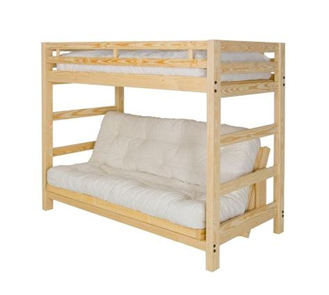 Liberty Futon Bunk Bed Unfinished Frame Kids Decor
