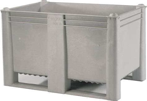 Plastic Storage Containers Dividers - plastic box pallet 1200x800x740 500l grey solid genteso