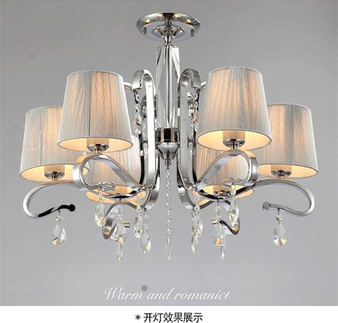 Metal Chandelier Shades New Fabric Shade Glass 6 Arm White Chandelier Light Ceiling L Large Metal