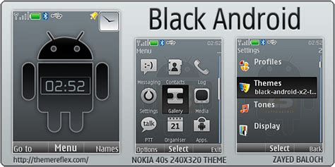 themes nokia x2 android black android theme for nokia x2 240 215 320 themereflex