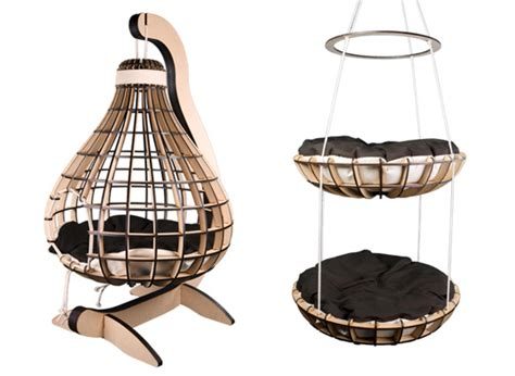 hanging cat bed kitticraft modern cat products from south africa hauspanther