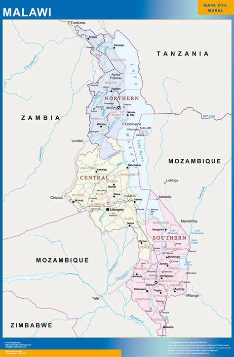 malawi map malawi karte provinzen