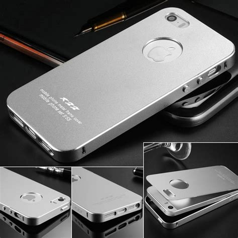 Iphone 5 5s Se Casing Cover Bumper Backcase Kuat Pc ultrathin aluminum for iphone 5 5s se 2 in 1 phone bag back cover for iphone 5s 5