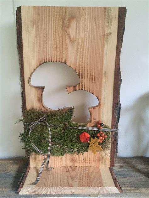 stehle rustikal altholz holz deko herbst natur pilz schwammerl schild