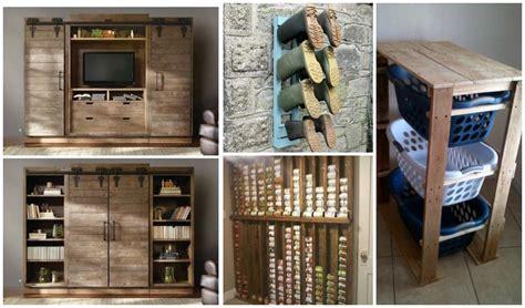creative diy pallet storage ideas