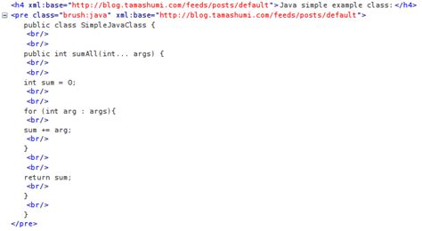 html format br why blogger puts br tags only when content served via rss