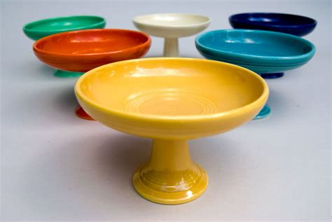 Fiestaware L by Fiestaware Vintage Original Yellow Comport Pottery For Sale