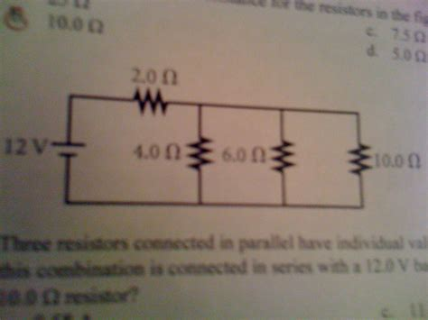 three resistors connected in parallel carry currents labeled quia physics crt review part 3