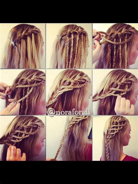 fancy a change of hair stule fancy waterfall braid hairstyle hairstyles tutorials