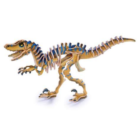 Puzzle 3d Kayu Velociraptor puzzle 3d quot dinosaurio velociraptor quot indalchess tienda de juguetes y juegos de jardin