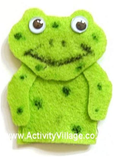 Frog Finger Puppet Template puppets craft ideas for children