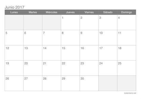 almanaque 2017 para imprimir calendario junio 2017 para imprimir icalendario net