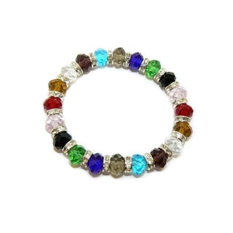 stylish multicoloured beaded bracelet