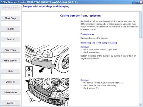 service manual how to remove front bumper 2006 volvo xc70 how to remove front bumper 2006