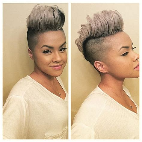 both sides shaved for women 50 short hairstyles for black women mohawks gray and