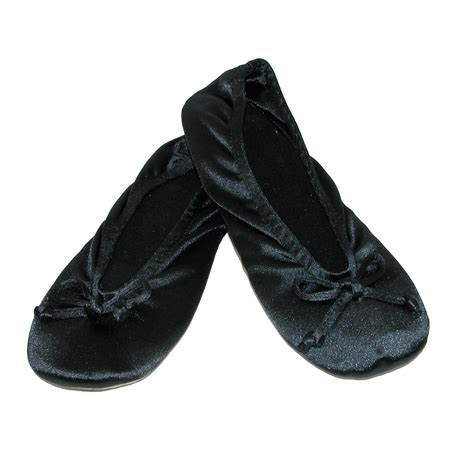 totes isotoner slippers s womens satin plus size ballerina slippers pack of 2 by