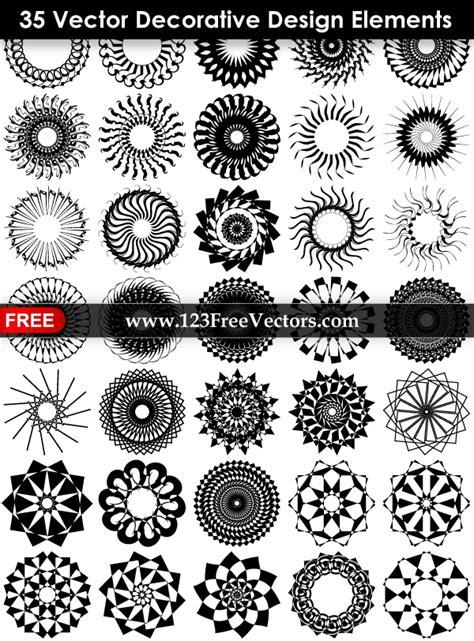 design elements free 35 vector decorative design elements 123freevectors