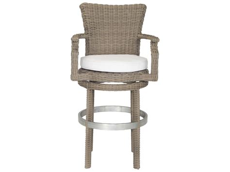swivel wicker bar stools patio heaven signature palisades wicker swivel bar stool