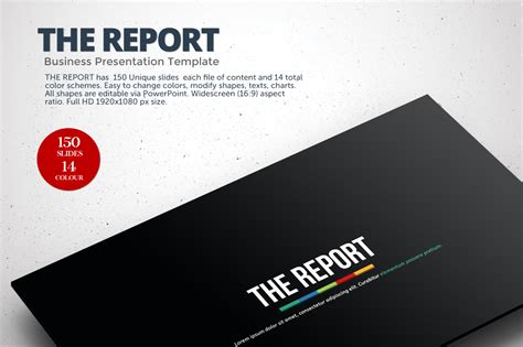 powerpoint report template the report powerpoint template presentation templates on