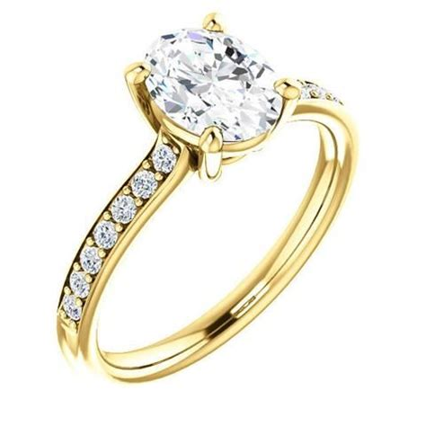 Piring Oval 10 Quot P0310 Golden engagement rings 1 25 ct oval ring 14k yellow