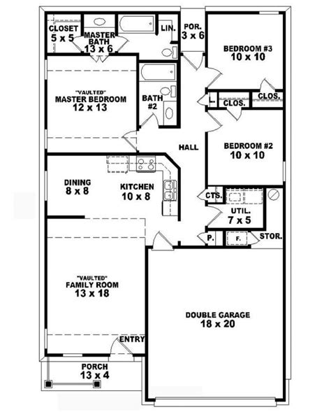 bath house floor plans 653710 one country style 3 bedroom 2 bath