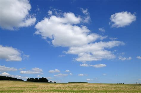 summer landscape blue sky with clouds photograph by