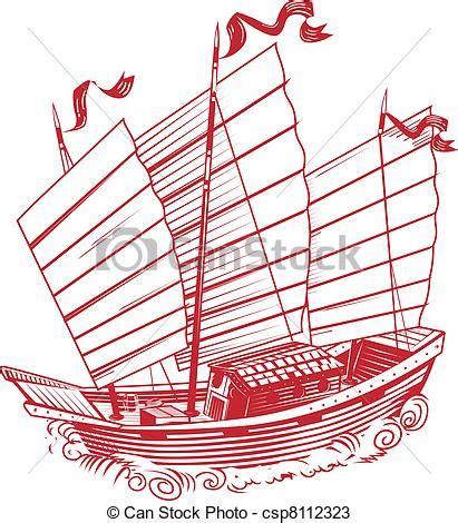 junk boat drawing vectors of chinese junk an asian style ship csp8112323