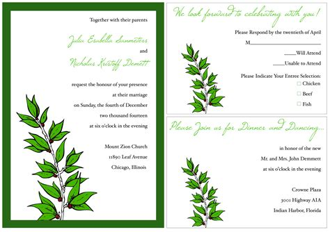 Gift Card Exles - invitation cards sles invitation cards templates free download card invitation