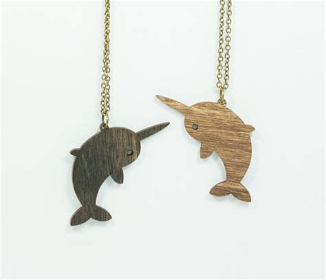 items similar to narwhal necklace handmade laser cut