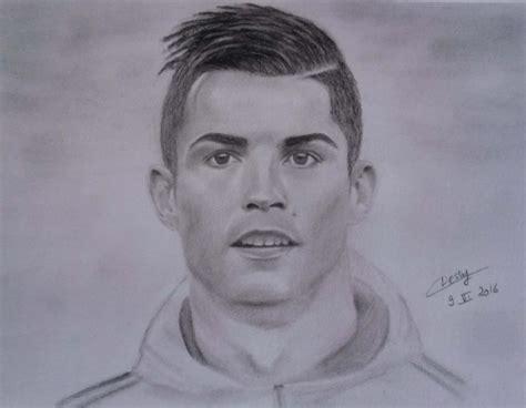 Tableau Fusain Quot Cristiano Ronaldo Quot Par L Artiste Cessy