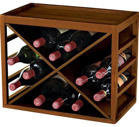 Wine Enthusiast Wine Rack by Wine Enthusiast 12 Bottle X Cube Stackable Hardwood Wine