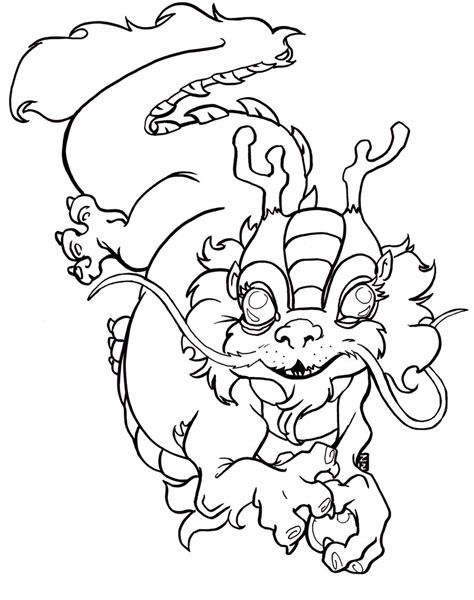 chinese dragon coloring pages easy free coloring pages of chinese dragons