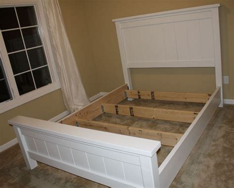 diy farmhouse bed from 2 ana white plans farmhouse bed ana white diy wood plans pinterest