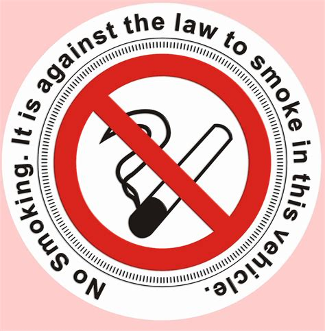no smoking sign for vehicles no smoking tax disc holder window sticker