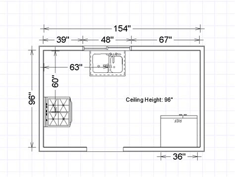Craftsman House Plan e3 kitchen amp interior measure kitchen