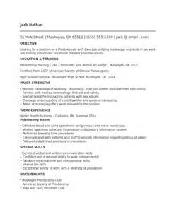 phlebotomy resume template 6 free word pdf documents