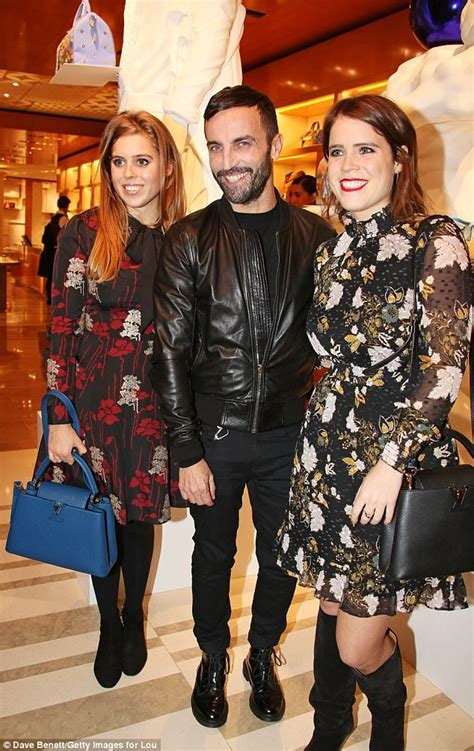 Beatrice and Eugenie attend Louis Vuitton event in London
