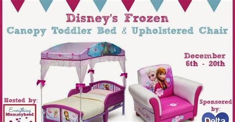 Frozen Toddler Bed With Canopy Nanny To Enter To Win A Disney S Frozen Canopy Toddler Bed Upholstered Chair Ends 12 20