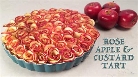 decorative apple roses rose apple custard tart recipe by ann reardon how to cook