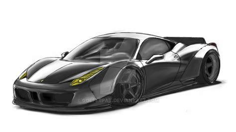 Quick Sketch Libertywalk Ferrari 458 Italia By Golferpat