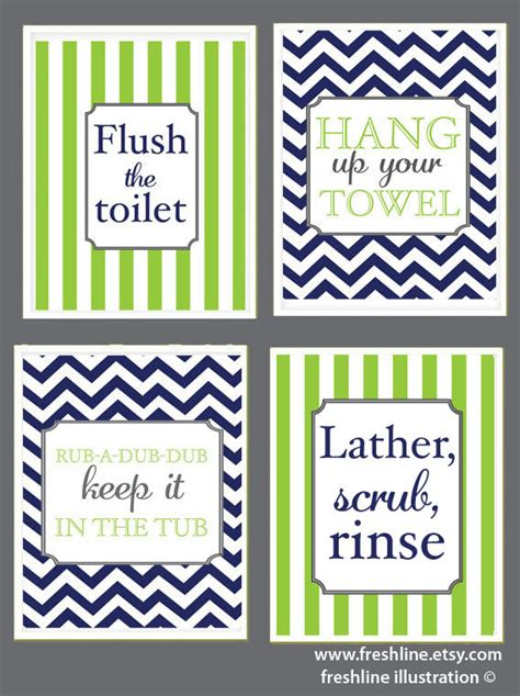 cute bathroom sayings items similar to kids bathroom cute sayings flush the