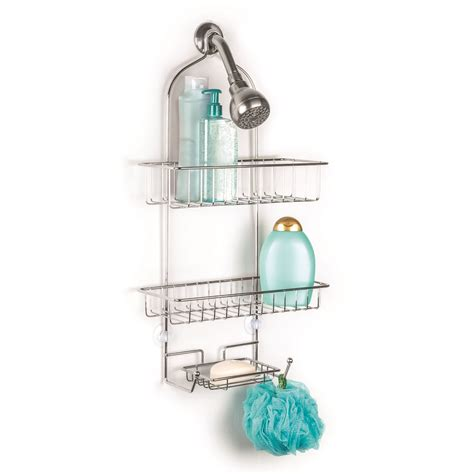 Wire Shower Shelf by The Showerhead Open Wire Shower Caddy With 2 Adjustable Shelves Soap Dish Ebay