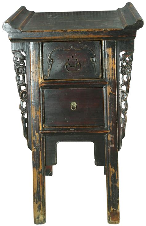 Small Nightstand Table Small Antique Carved Altar Table Nightstand Ebay