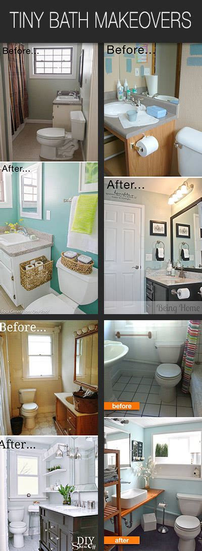 small bath makeover tiny bathroom makeovers decorating your small space