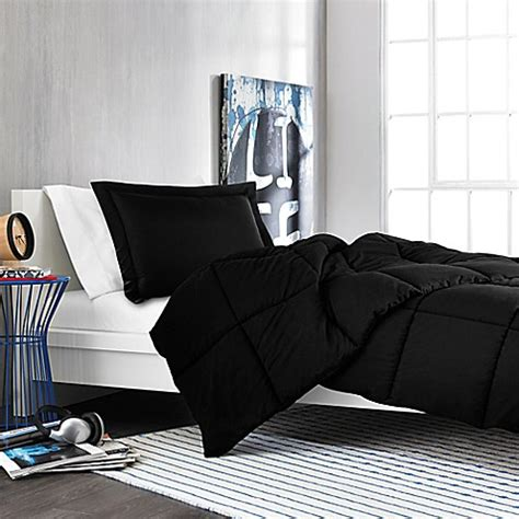 black comforter twin xl buy solid twin twin xl comforter set in black from bed