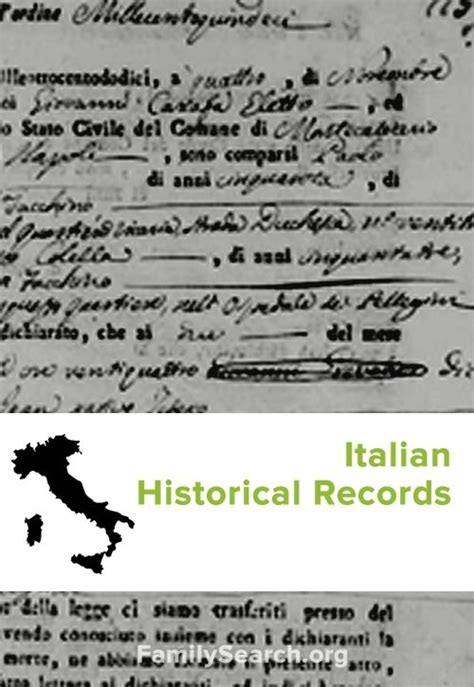 Italian Birth Records 1800s List Of Italian Indexed Historical Records Available For