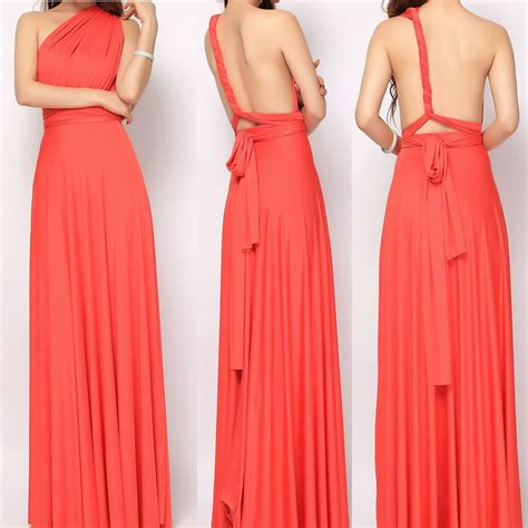 Set Dress set of 8 coral infinity dress set pink convertible dress