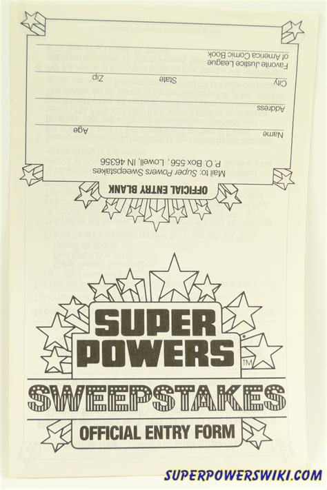 Sweepstakes Wiki - sweepstakes contest entry forms super powers wiki