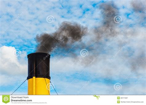 steam boat exhaust chimney from steamboat with black smoke royalty free stock