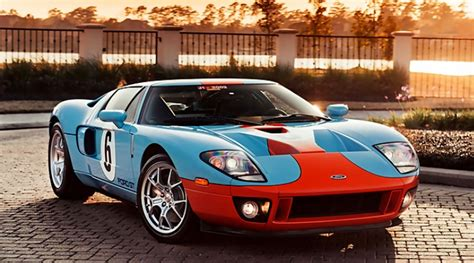 gulf ford gt mecum gulf liveried 2006 ford gt heritage edition motrolix